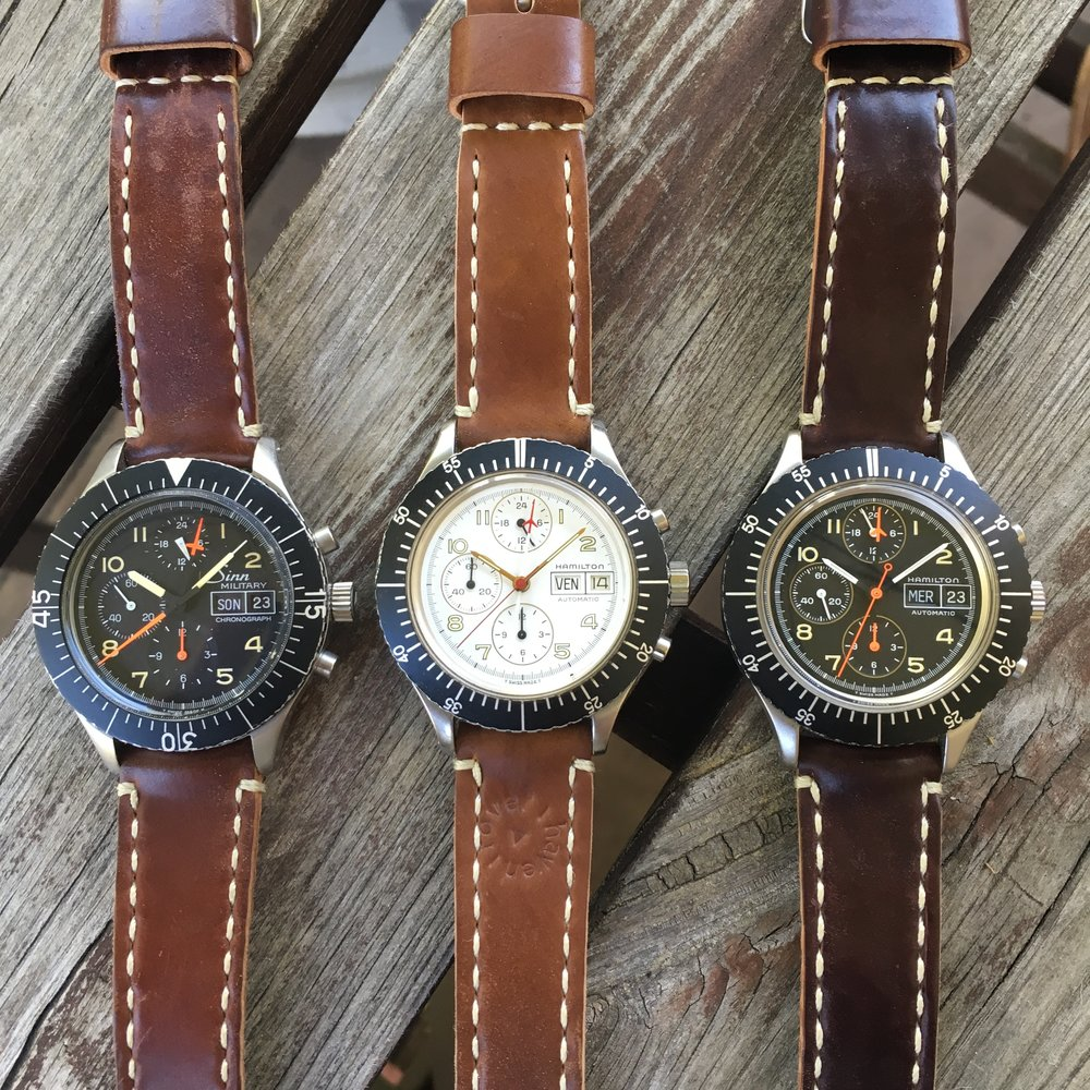 A Sinn 156B and the two Hamilton 156-alikes.