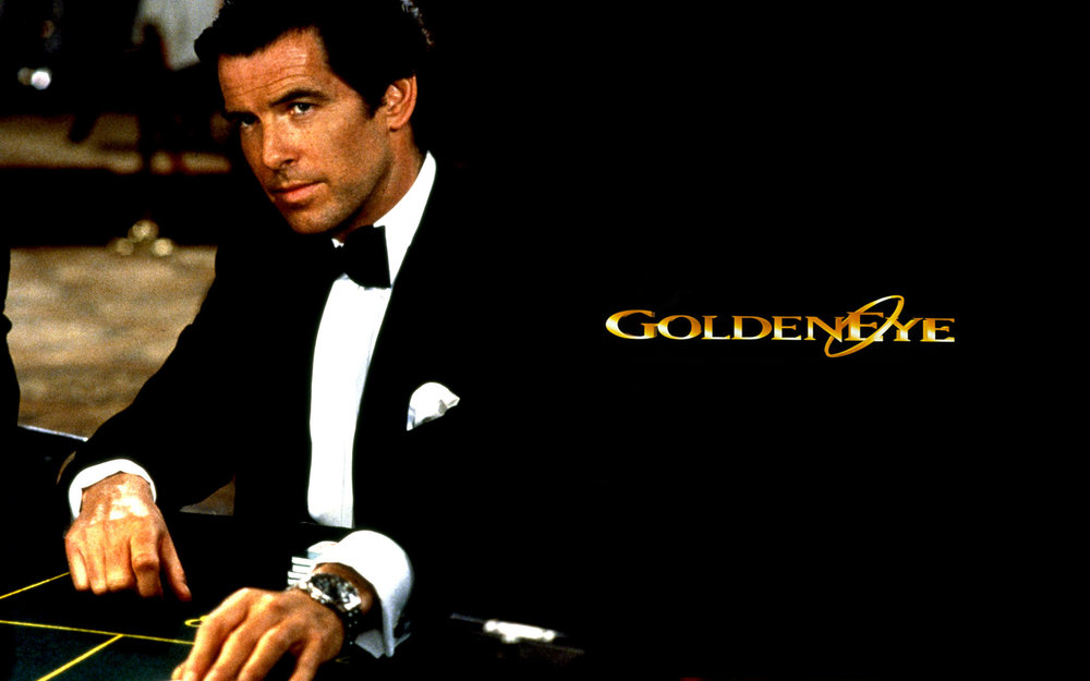 I guess they needed a power source for the laser? Pierce Brosnan's quartz-powered Seamaster. Image (c) What Kind of Watch?