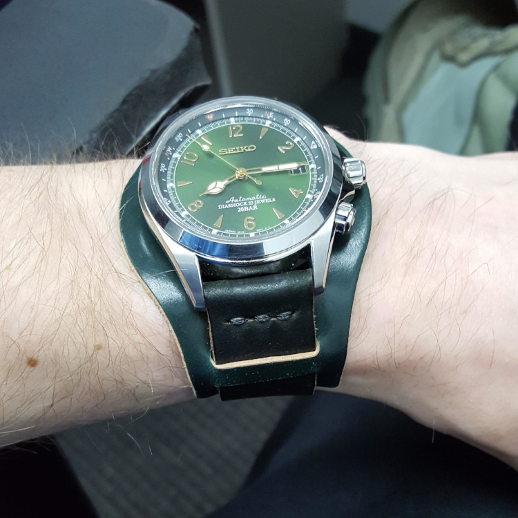 Triple Green! A Seiko SARG on Two-Piece with Bund.