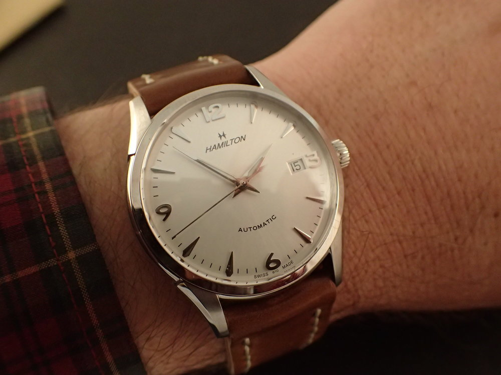 The Hamilton Thin-O-Matic 38 mm.  A modern classic.  And cheap too.
