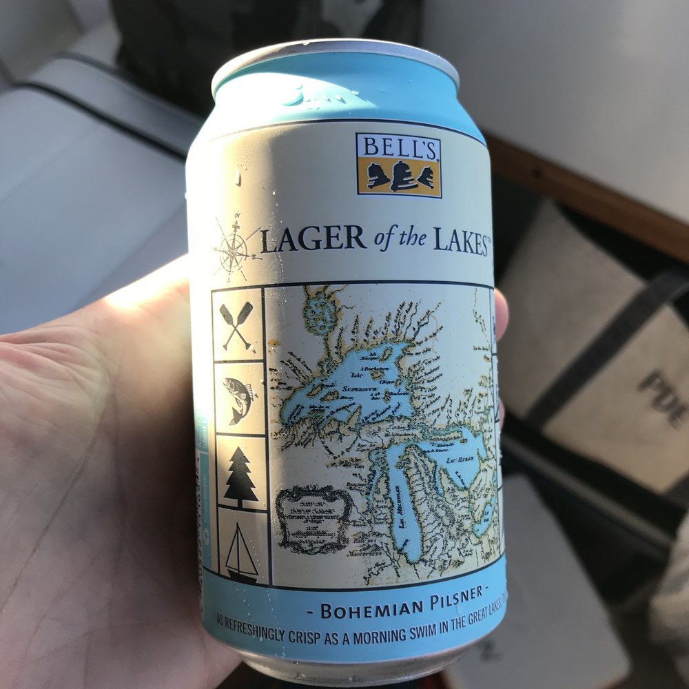 One of the best beers in the Great Lakes State, enjoyed at dawn out on the Big Lake.
