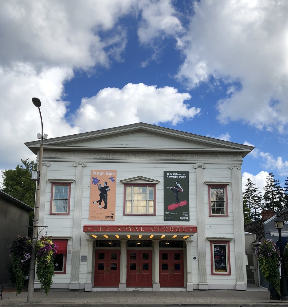 The Royal George, a small intimate theater.
