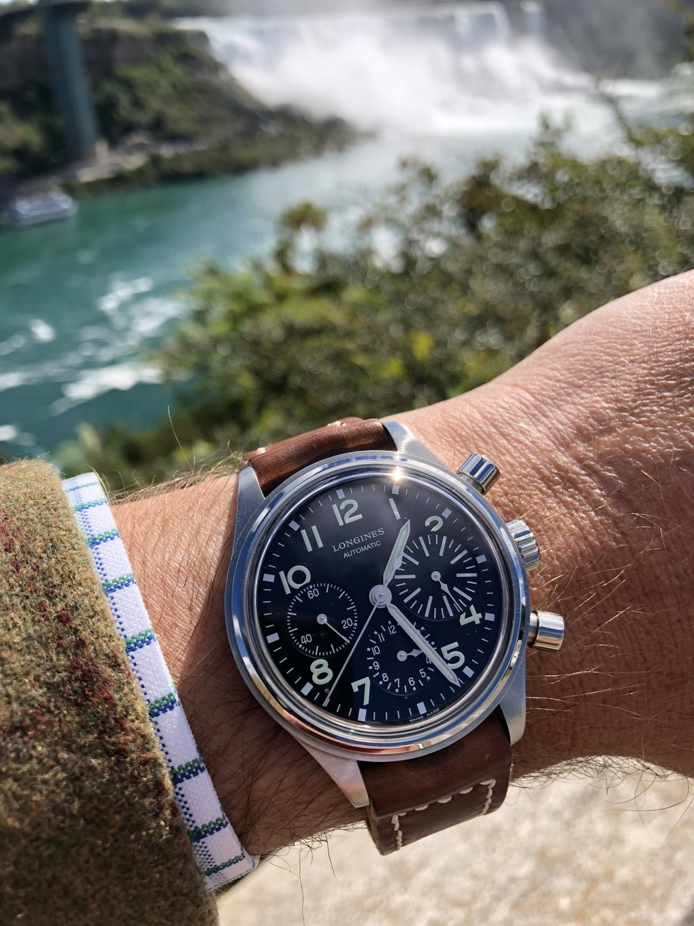 As cool as the Longines BigEye is, it pales in comparison to the experience of the Niagara Falls.