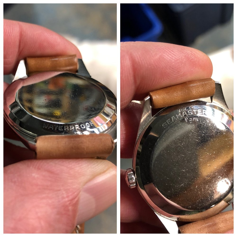 Factory caseback engravings are extremely faint.