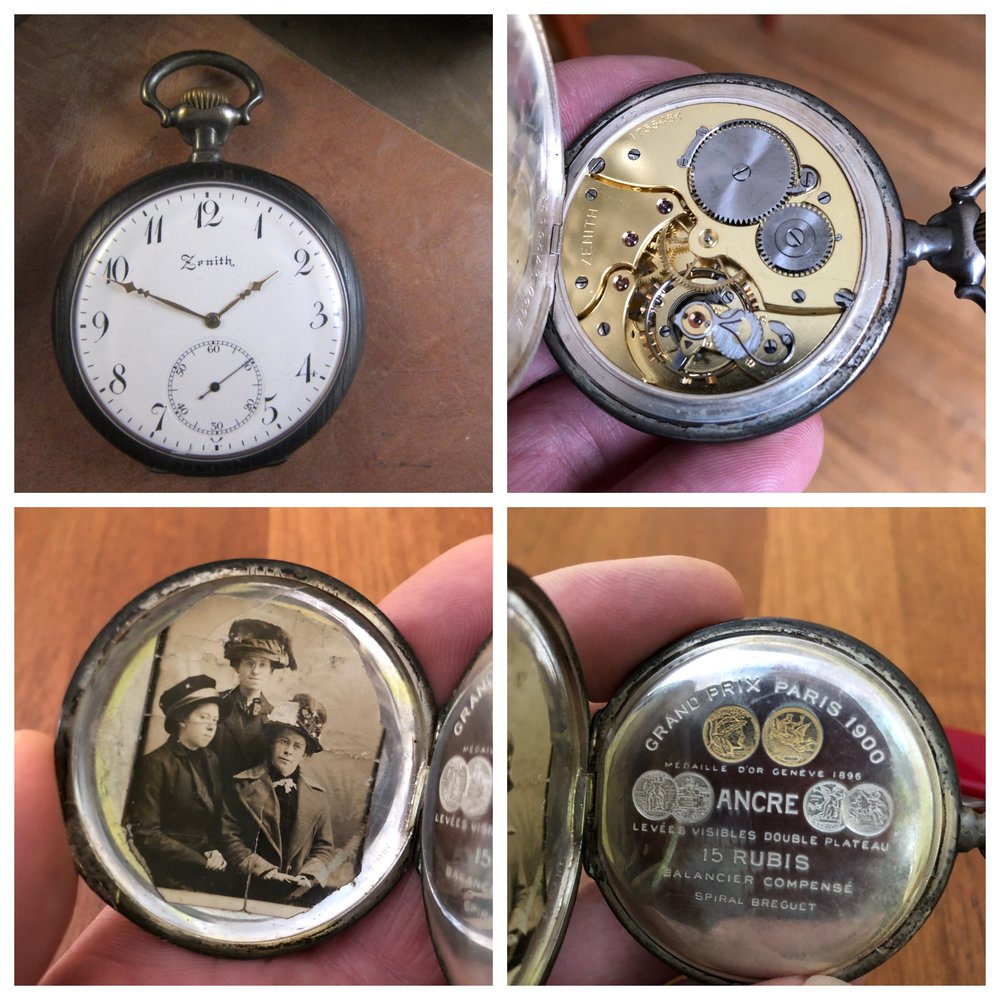 Zenith pocket watch. My foremothers look happy, don't they?