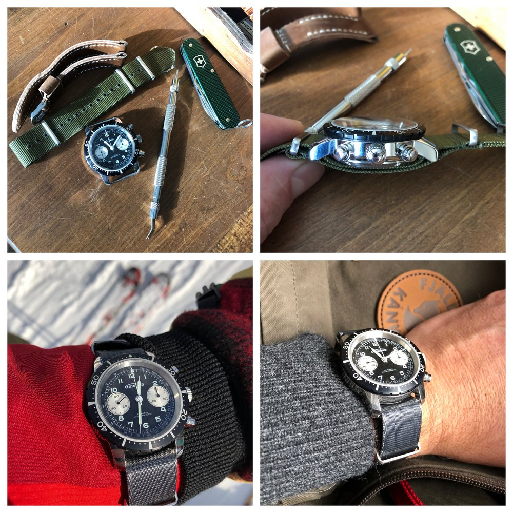 A quick strap change transforms the Model 361 into a great #skiwatch.