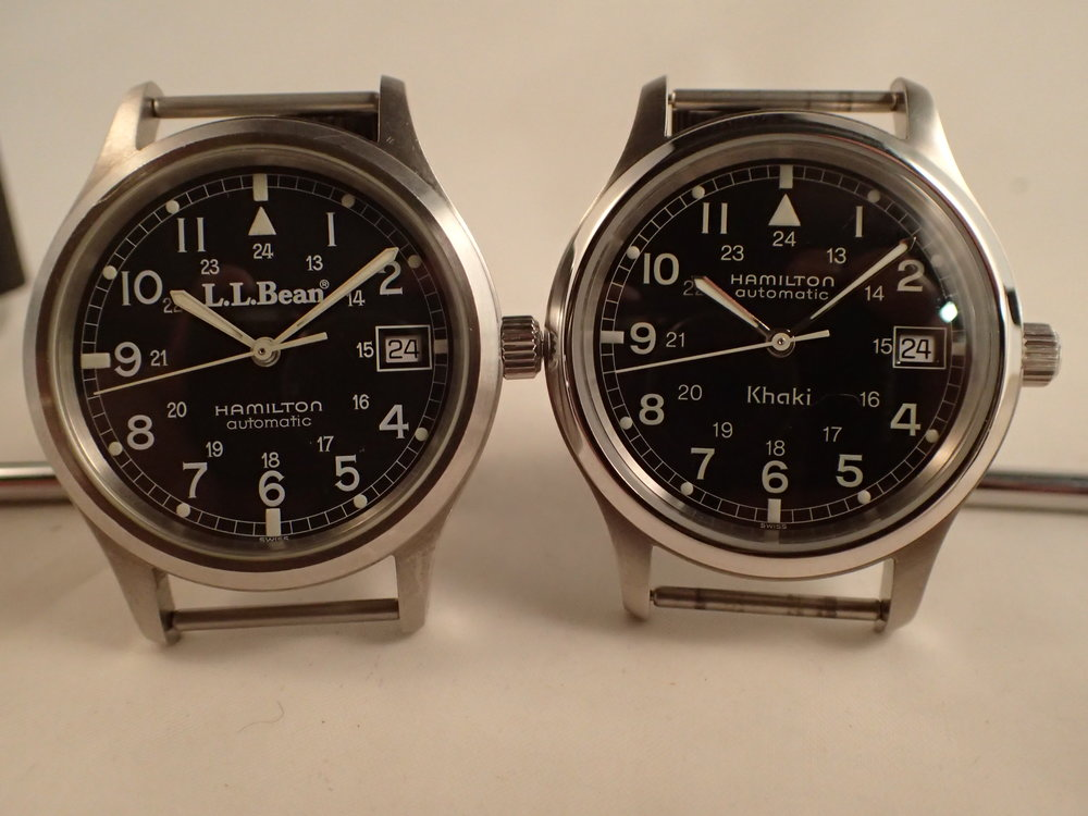 The Hamilton 9721 in two guises. Note the very slightly different numeral fonts.