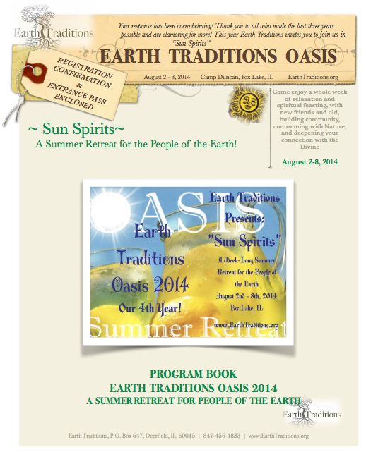 Use your password to download the 2014 Oasis Program.