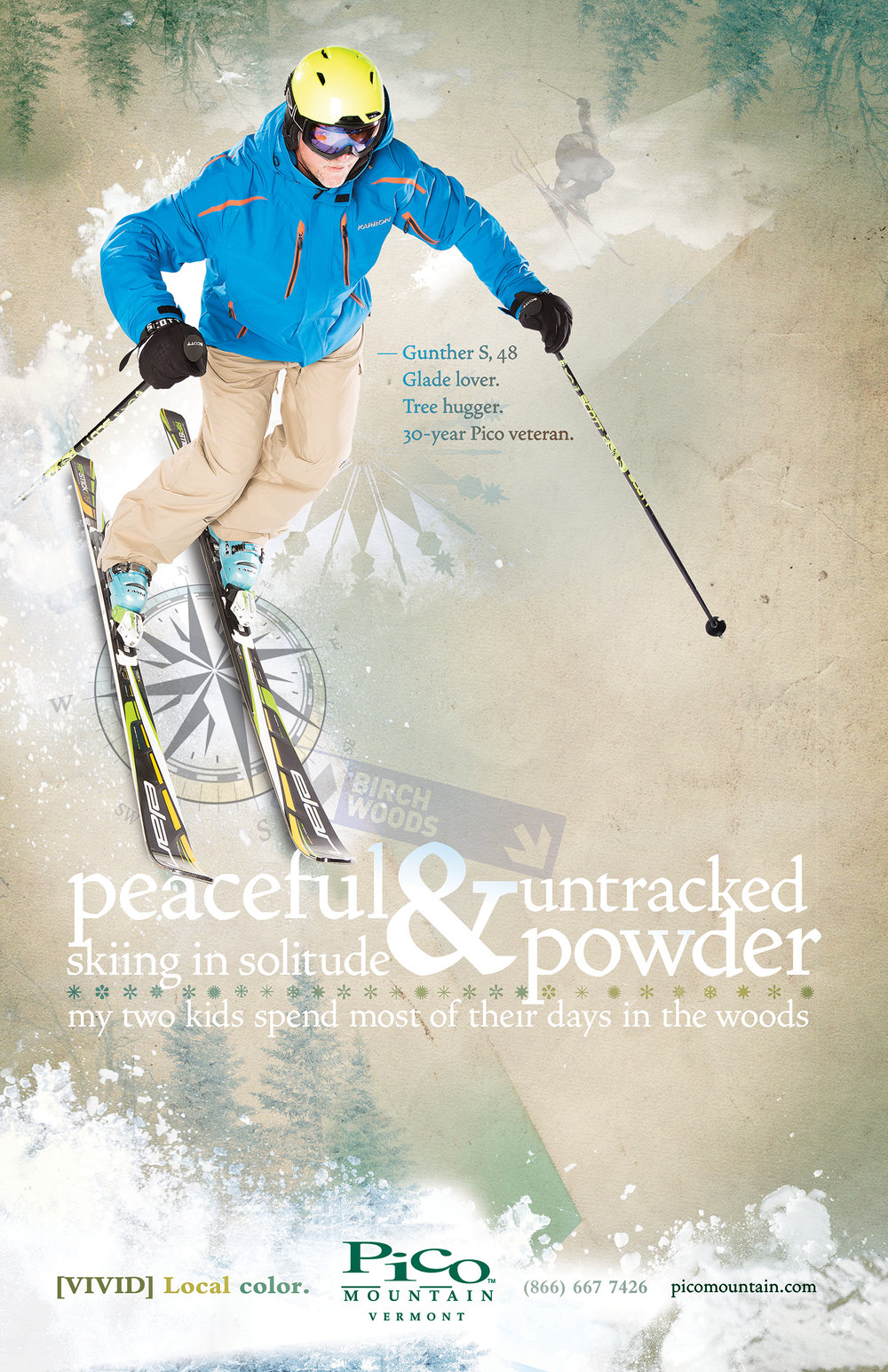 FEATURED WORK  PICO MOUNTAIN LOCAL COLOR PRINT CAMPAIGN