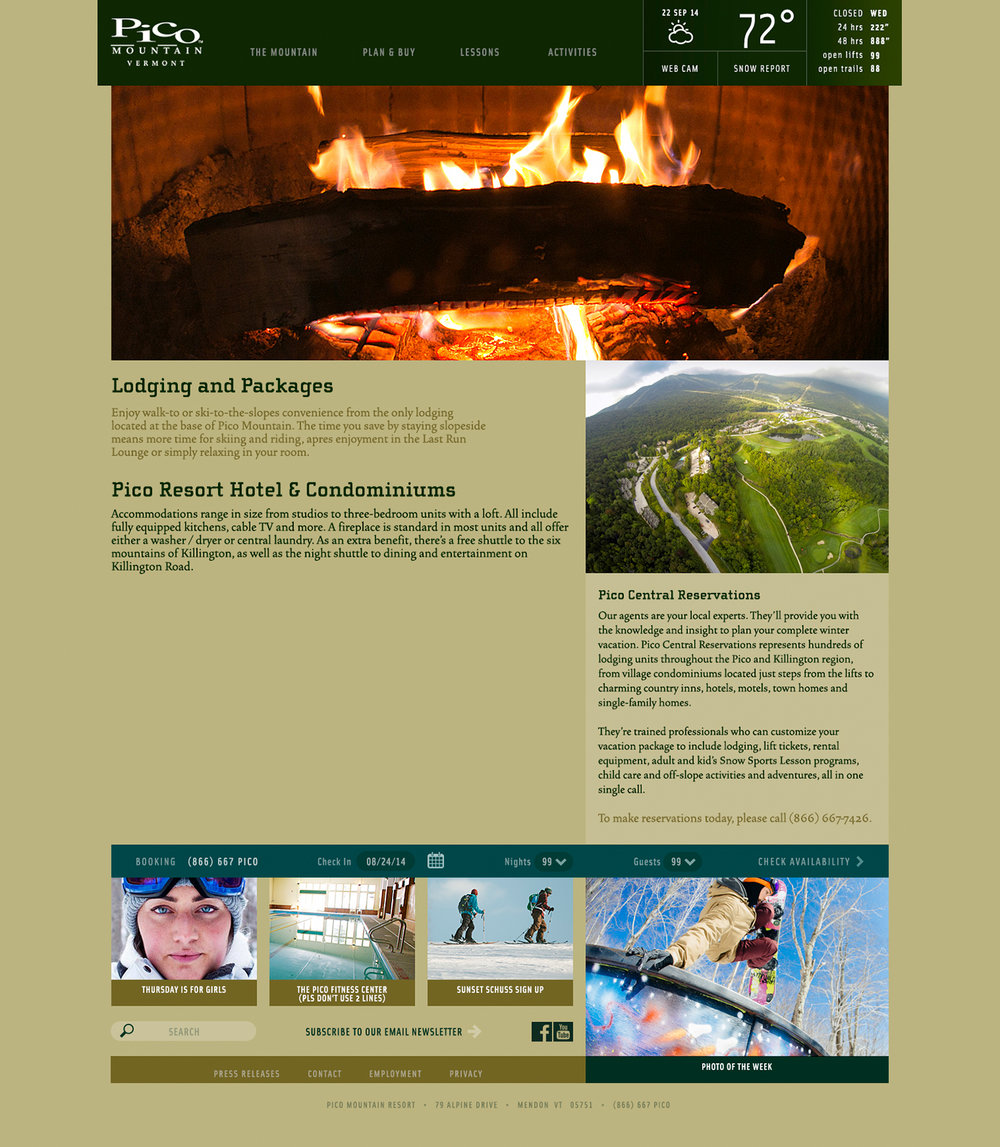 Pico Mountain Website Design