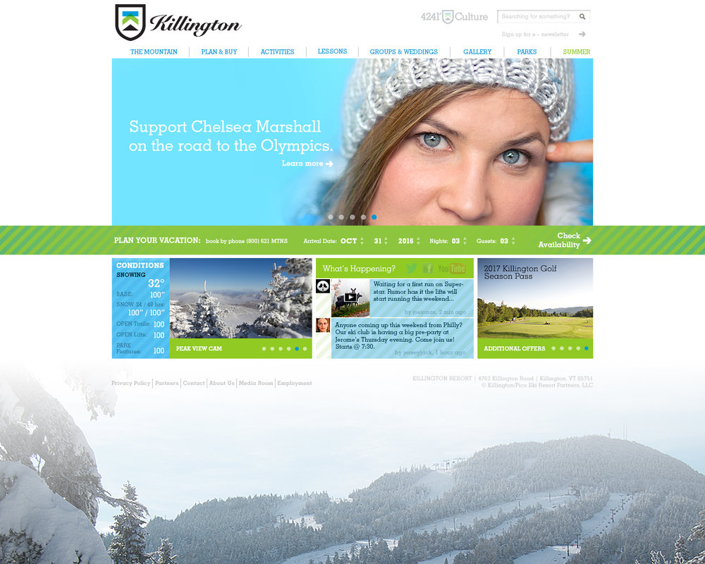 Killington Resort Website Design