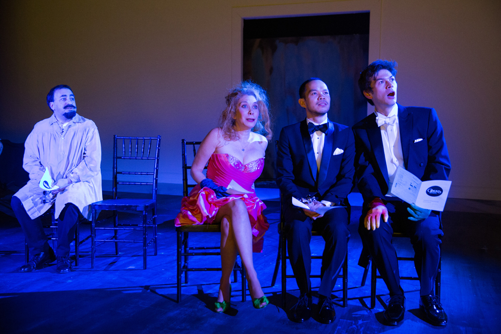 Steven Rattazzi as Maurice Denis, Cheryl Stern as The English Woman, Jon Norman Schneider as Claude, and Devin Norik as Dash.