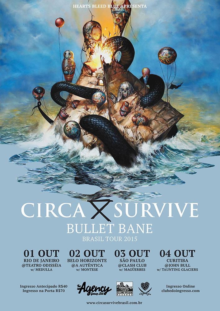 Circa Survive & Bullet Bane Brasil Tour 2015
