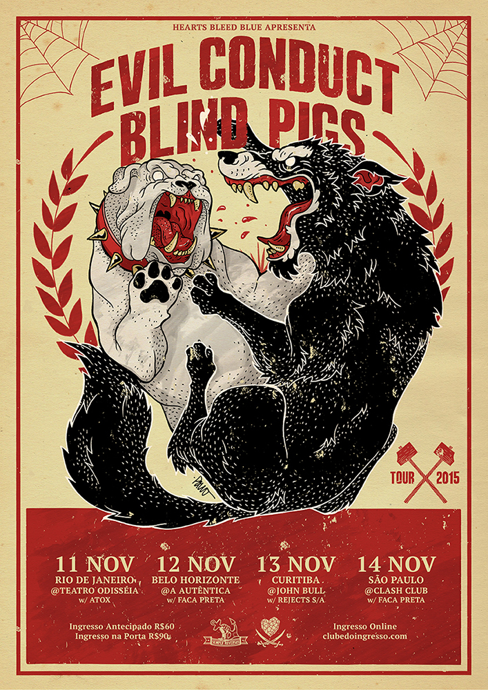 Evil Conduct & Blind Pigs Brasil Tour 2015