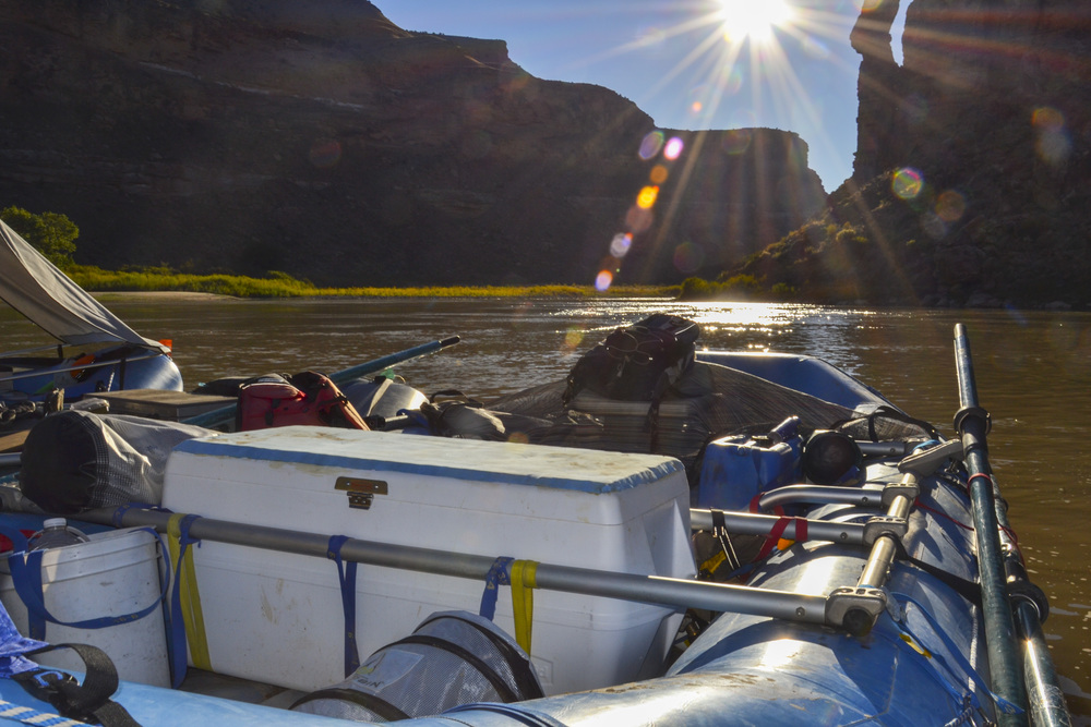 View from a raft in Desolation Canyon along the Green River, Utah. Photo by Taylor Reilly, 2016.