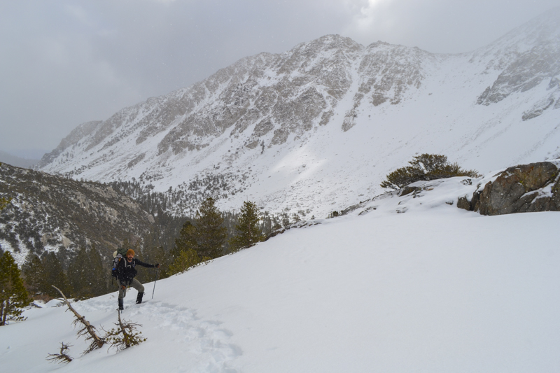 Snowshoeing to Temple Crag