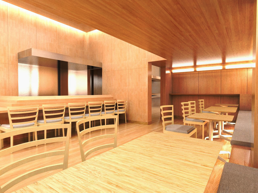 Sushi Yasuda Restaurant, NYC // Belmont Freeman Architects