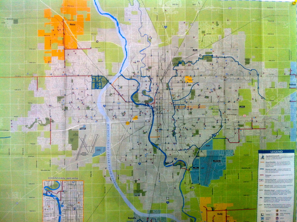 Wichita path maps are free in our store