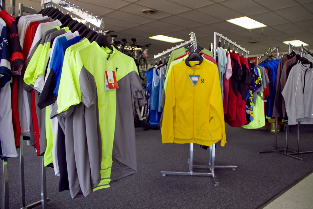 Breathable, wicking, cycling-fitted jerseys, jackets, & baselayers