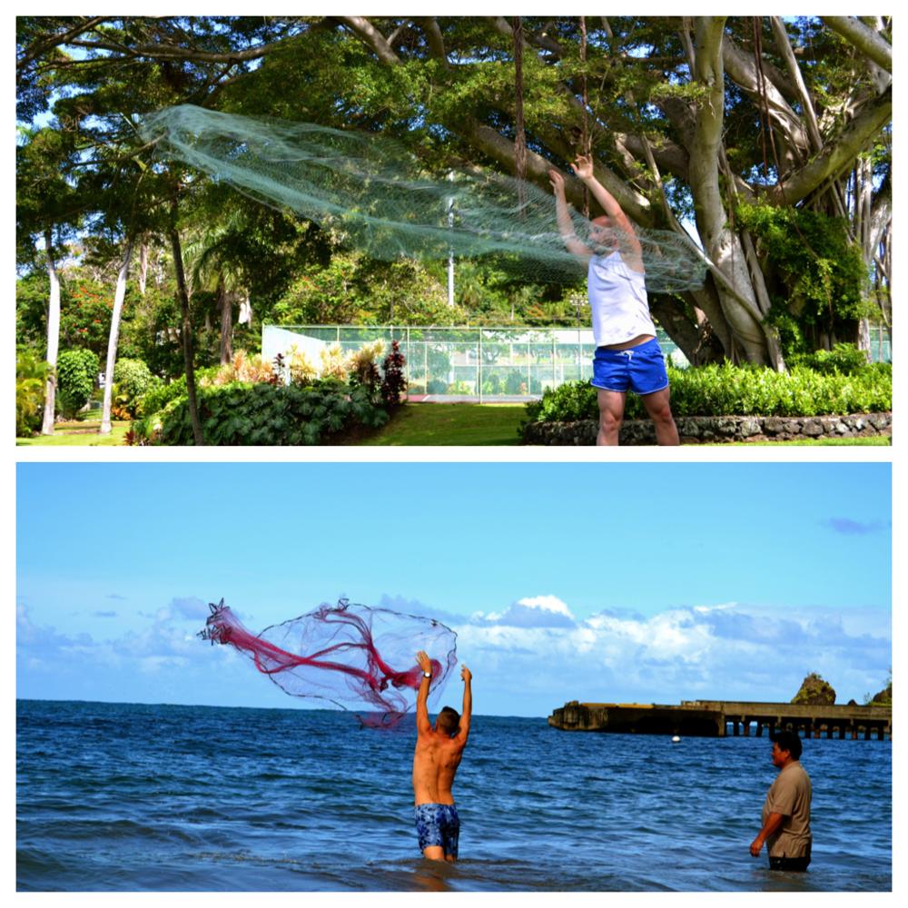 Travaasa Hana - Throw Net Fishing