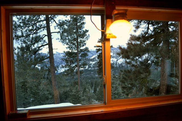 Backcountry Skiing Cabin - view