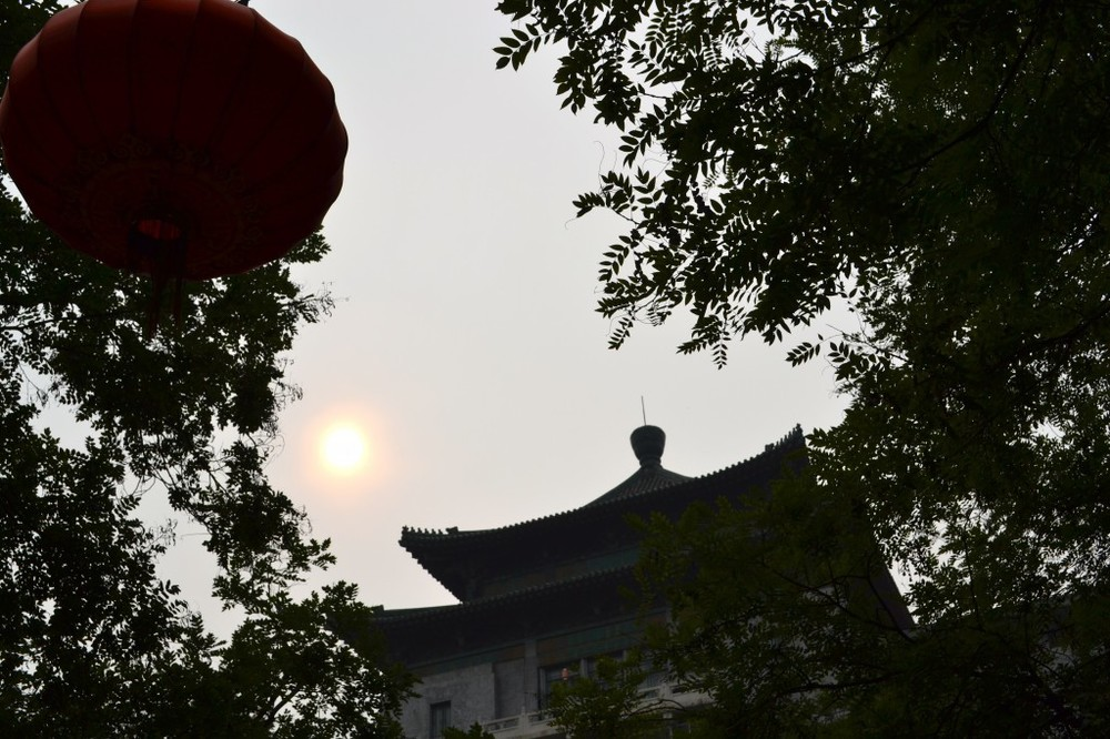 Beijing - sun fighting with smog