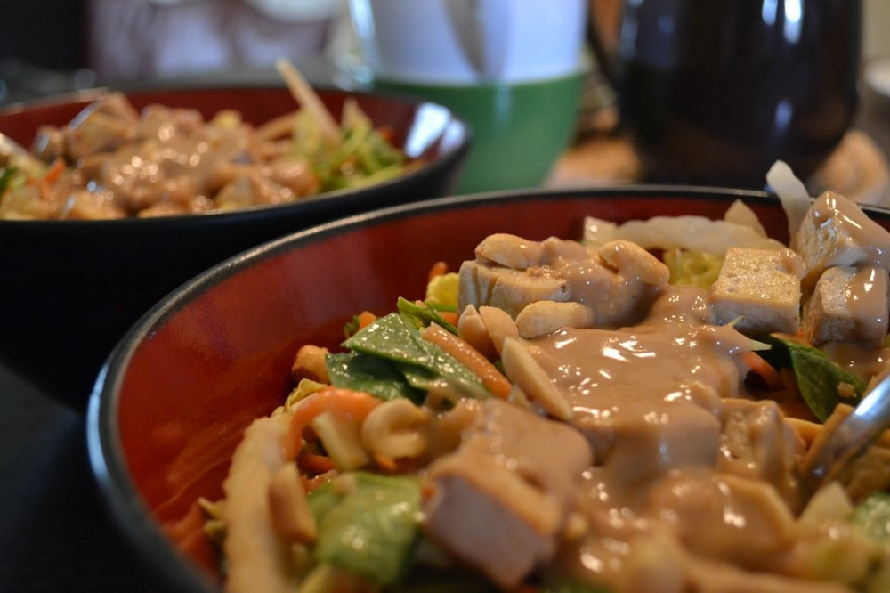 Delicious Vegan Asian Salad
