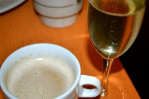 coffee and champagne!