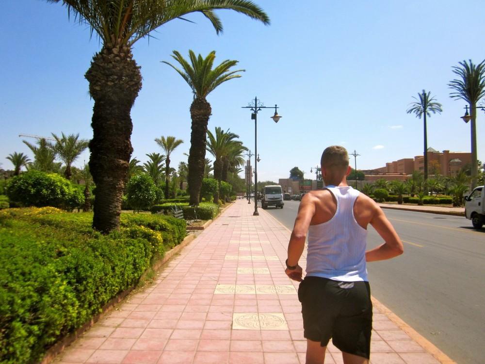 Running in Marrakech