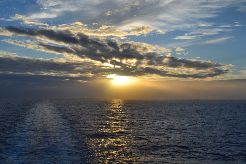 Cruising across the Atlantic Ocean