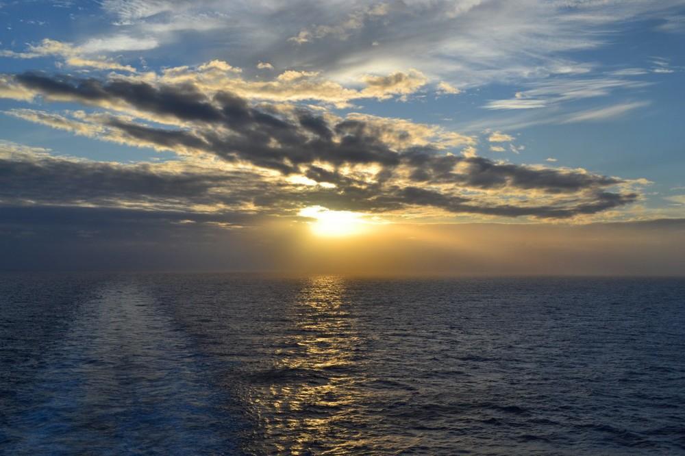 Cruising across the Atlantic Ocean
