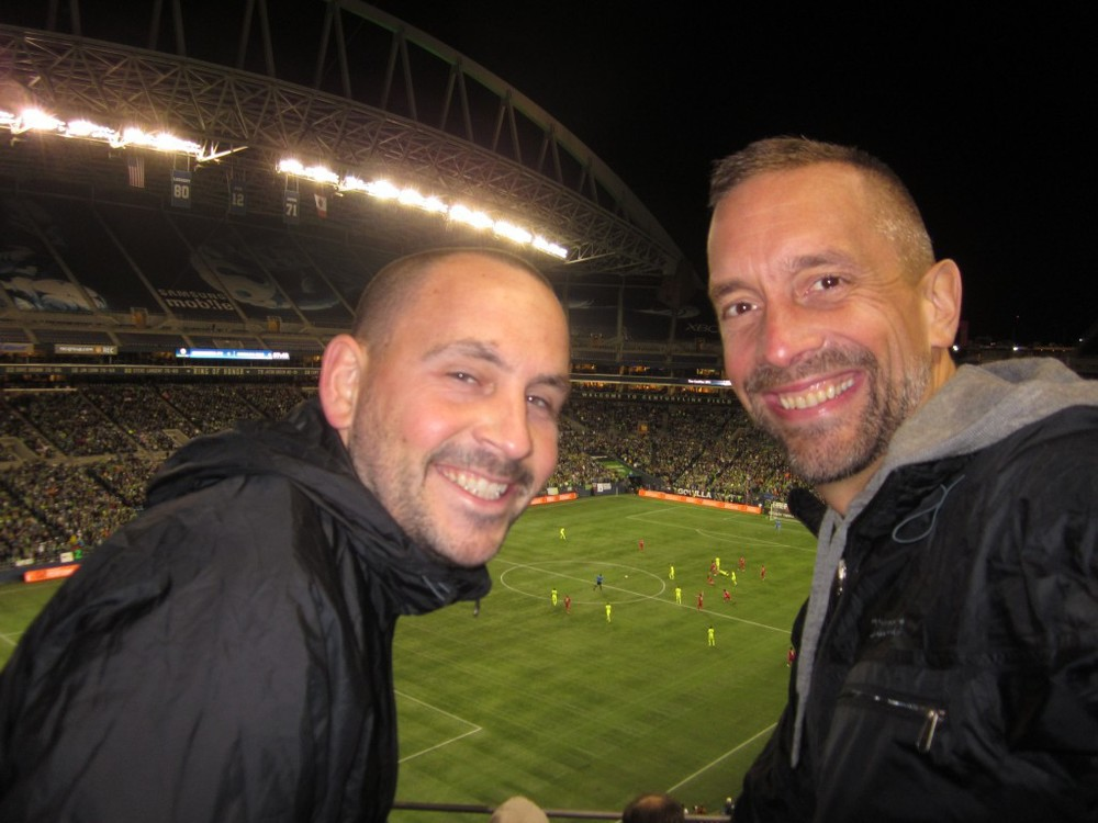 At a Seattle Sounders soccer game