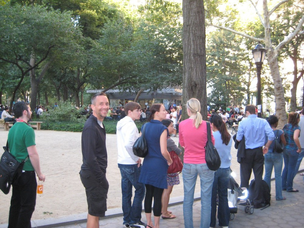 Committed to what we love – waiting in line at the Shake Shack – New York City
