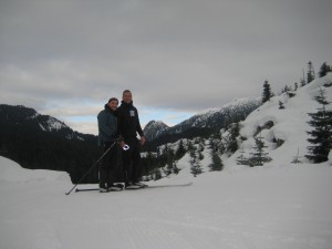 Caanan and Kent skiing