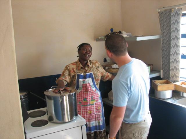 Cooking shima in Zambia