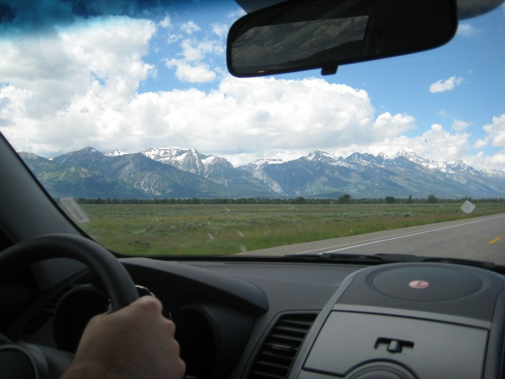 Driving to the mountains