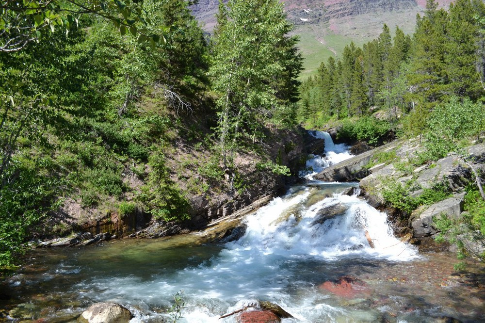 Swiftcurrent Valley trail