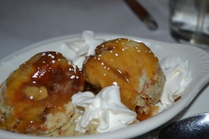 Banana bread pudding - the final course of our happy hour meal at Trio