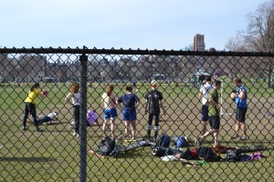 Quidditch players in Boston