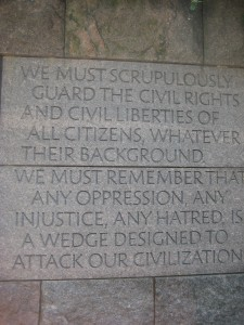 Our motivation - from the FDR Memorial in Washington D.C.