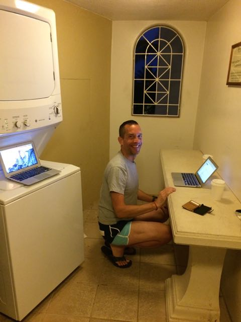 Maximizing laundry time. Preparing for a client Skype call in the middle of the night. Ah, time zones.