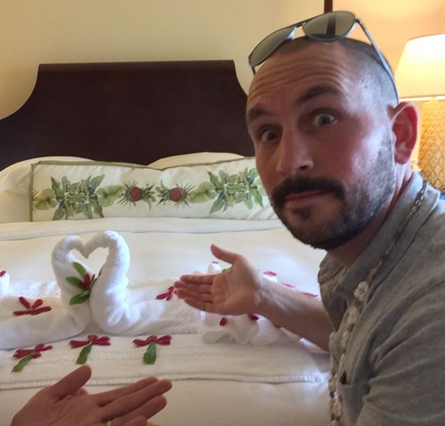 "We often get the ""red carpet"" treatment on media visits. This hotel really wanted to bring out our lovey dovey sides."