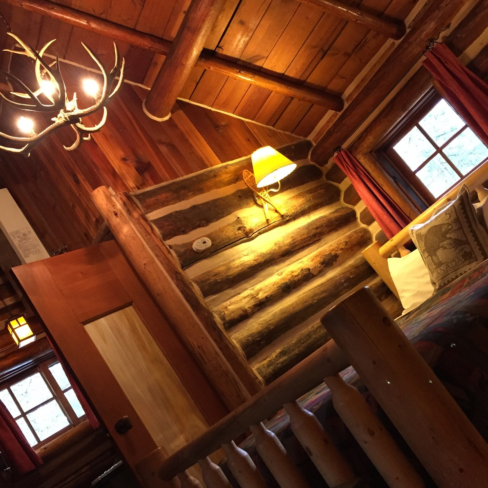 Our cabin was cozy and rustic (in a good way) with some modern touches.
