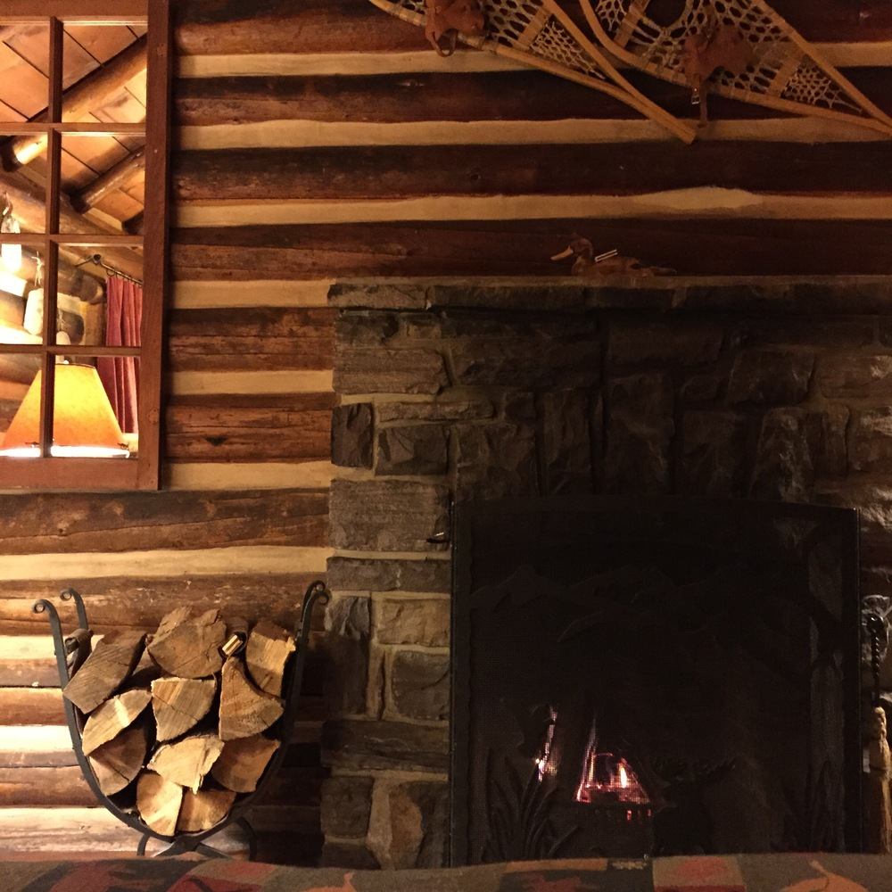 The best part was this incredible fireplace. We enjoyed it whenever we were in the cabin. It was especially nice to fall asleep to a roaring fire.