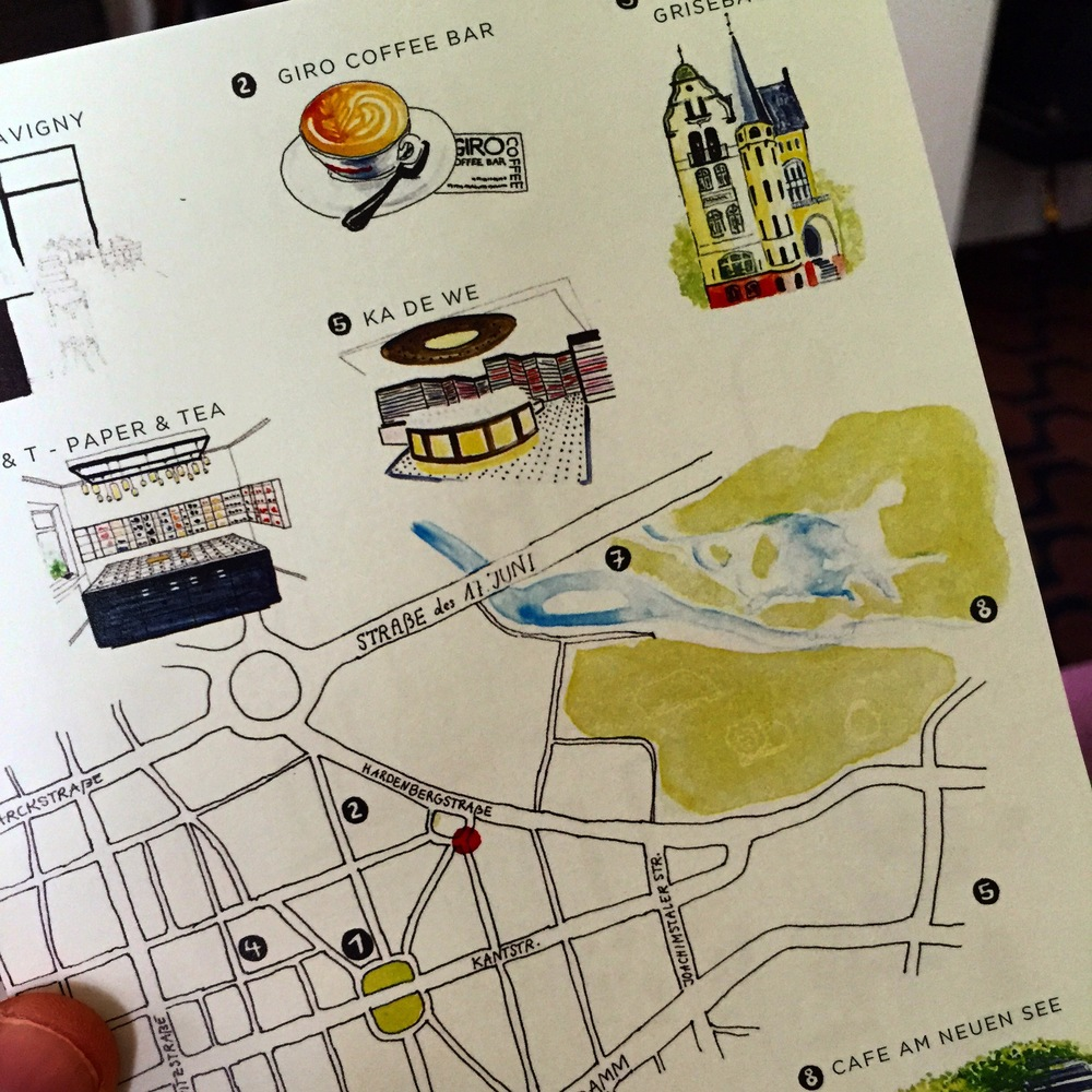 """Look at this fun """"homemade"""" card, providing guests with suggestions for nearby must-sees."""