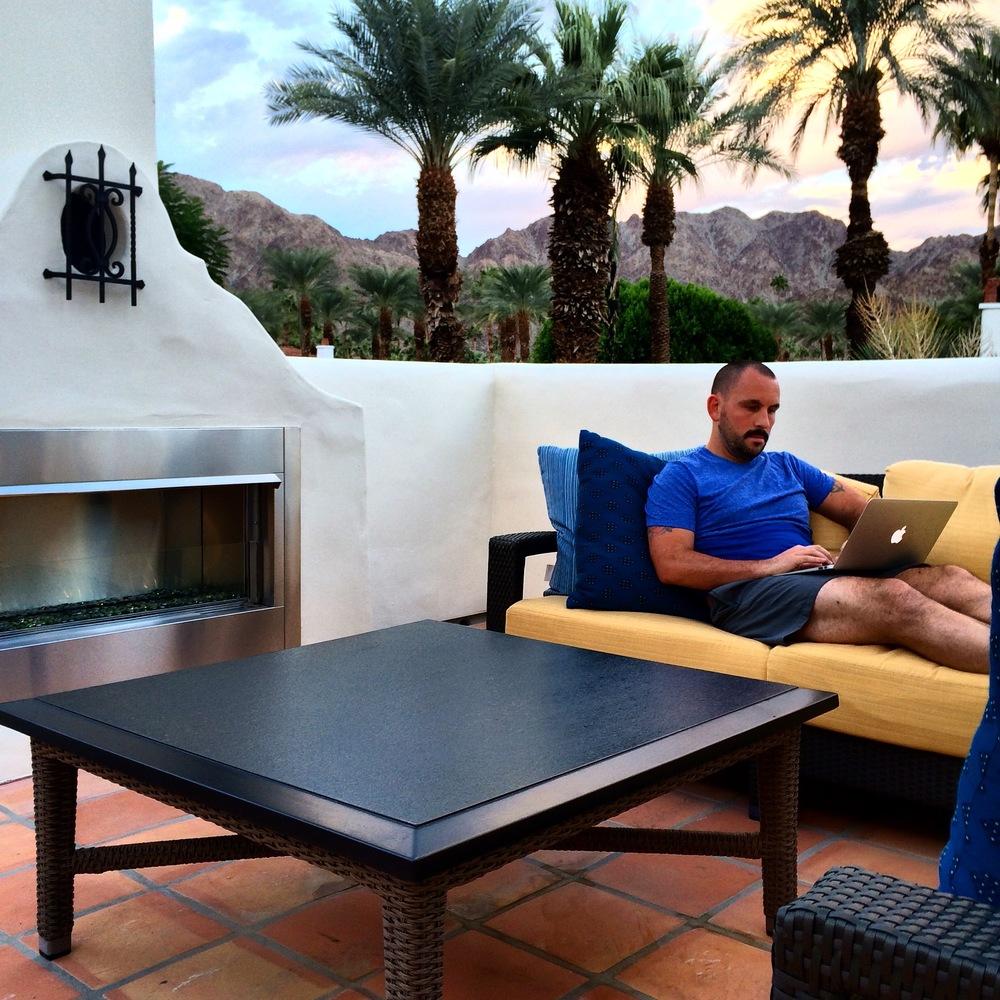Hotel room patios