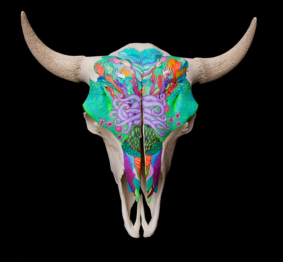 Jordan Piantedosi - Painted steer skull