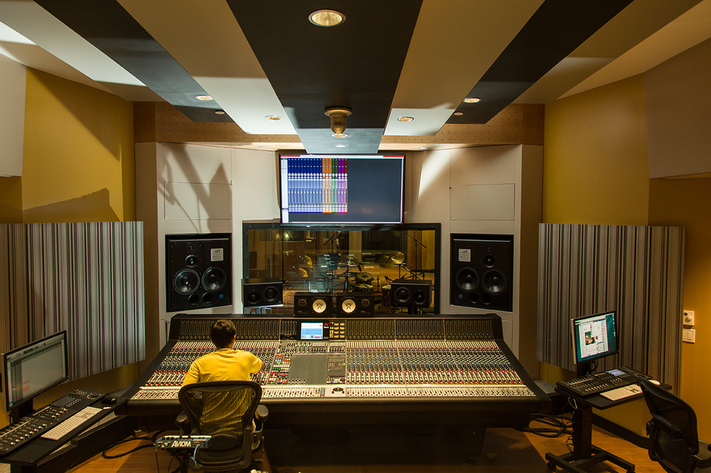 Studio 1 controll room, Berklee College of Music