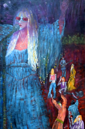 Journey Back to Woodstock, by Lisa Bartell oil on canvas, $500 http://www.galleryc.net