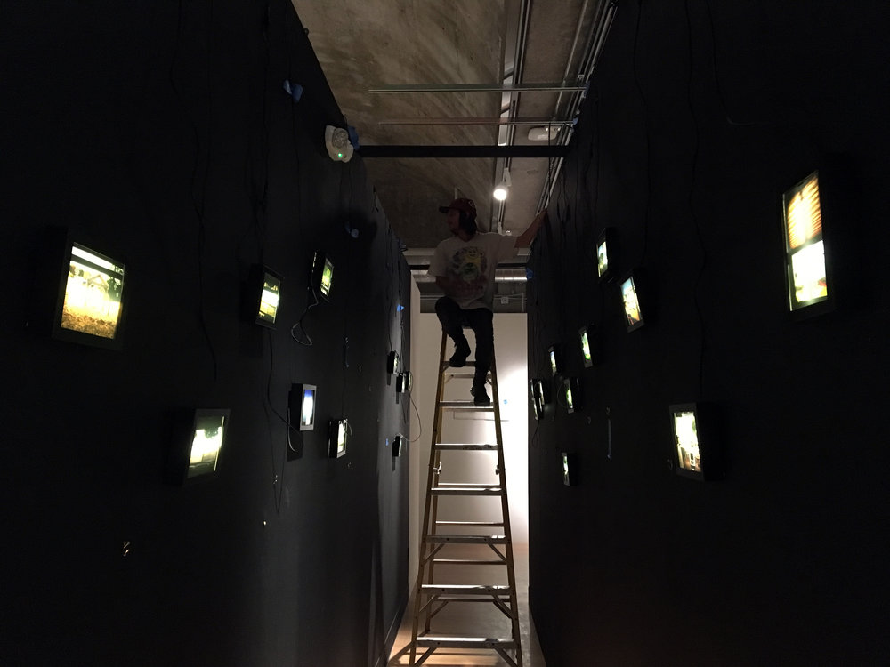 Action shot from the install! A million and one thanks to Joey Russo for his intrepid ladder skills and overall install assistance!